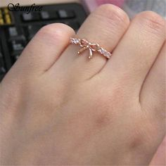 7ce3685d0143 GOLD BOW RING – Quality Lake Simple Jewelry