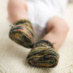 Stay-On Baby Booties Pattern - Knit Purl
