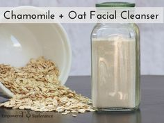 Oat Facial Cleanser This Soothing Facial Cleanser Recipe features oats and chamomile and is suited for all skin types.This Soothing Facial Cleanser Recipe features oats and chamomile and is suited for all skin types. Natural Facial Cleanser, Natural Exfoliant, Facial Cleansing, Homemade Facials, Homemade Beauty, Diy Beauty, Beauty Tips, Magic Bullet, Face Masks