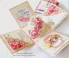 Margot Craft Corner: z innej beczki ...Exploding box with cake, flowers