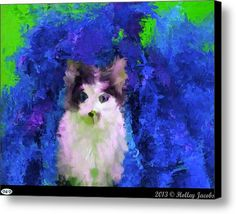 Why Me Blue Canvas Print / Canvas Art By Holley Jacobs