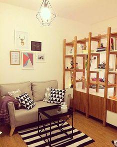 Decoración de un monoambiente por Mabstab - Room Decor, Room Inspiration, Interior Design, Interior Deco, Interior, Studio Decor, Home Deco, Home Decor, Room