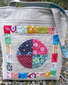 FairyFace Designs: Quilted Tote Bag for Mouthy Stitches