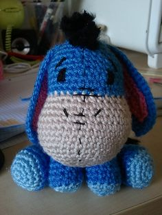 Eeyore Amigurumi pattern by Liel C - I WANT THIS SOOO BAD (for my babies of course...)