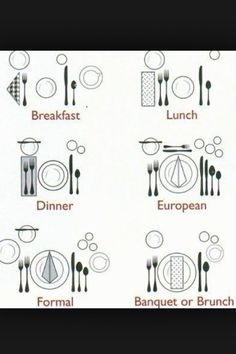 place settings I like i nice set table. The food taste better.  sc 1 st  Pinterest & How To Set your Formal and Informal Table | Holiday tables Diagram ...