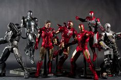 Hot Toys Iron Man group by dangercorpse,
