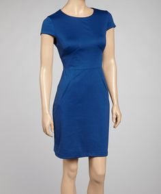 Take a look at this Purple Cap-Sleeve Dress by Donna Ricco on #zulily today!