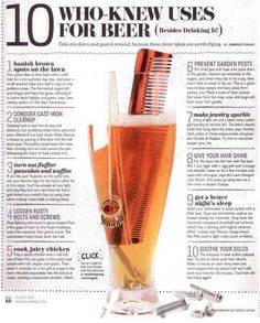 10 uses for beer (besides drinking it)