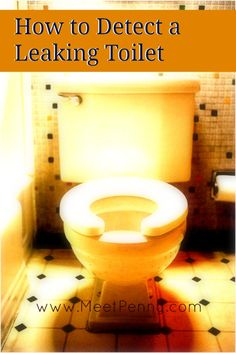 A video to show how to see if your toilet is leaking. This is SO EASY! Don't let money go down the drain.