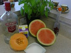 Recipes From An Italian Kitchen: MELONCELLO RECIPE 1 Ripe Tuscan Melo...