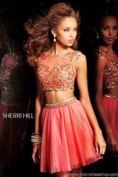 Sherri Hill 21154 Tulle Short Two Piece Prom Dress - ugh so obsessed, can i please go back in time to prom and wear this Sherri Hill Prom Dresses Short, Homecoming Dresses, Missy Dress, Taylor Swift, Prom Dress 2013, Dresses 2013, Prom 2015, Dressy Dresses, Party Dresses
