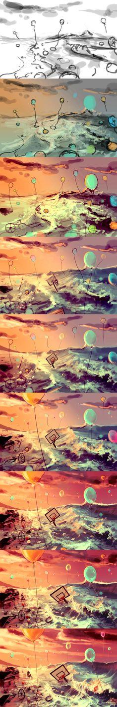 WIP Don't trash your dreams by AquaSixio.deviantart.com on @deviantART