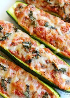 Low FODMAP Recipe and Gluten Free Recipe - Italian stuffed zucchini http://www.ibs-health.com/low_fodmap_italian_stuffed_zucchini.html