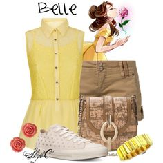 """""""Belle - Summer - Disney's Beauty and the Beast"""" by rubytyra on Polyvore"""