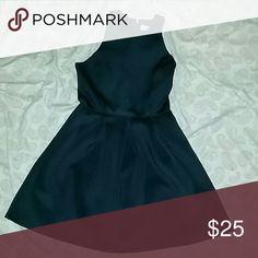 Black skater dress It's a fancy beautiful fall dress!! abercrombie kids Dresses Midi