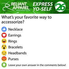 Express Yo-Self #26  Accessorize Necklace Earrings Rings Bracelets Headbands Purse