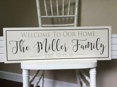 Personalized Welcome Sign Welcome to our home by SugarCreekLane