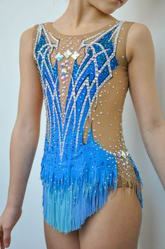 Competition Rythmic Gymnastic Leotard by iiuliia on Etsy leotards rhythmic gymnastics