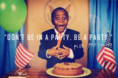 "Kid President- ""The self-appointed voice of a generation"" He is the best! Check him out at http://kidpresident.com/"