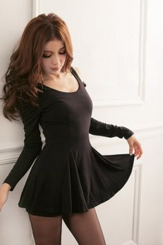 Korean Dress Black Korean Fashion Dress, Korean Dress, Fashion Dresses, Black Cotton, Dress Skirt, Summer Dresses, Mini Dresses, Shoulder Dress, Mini Skirts
