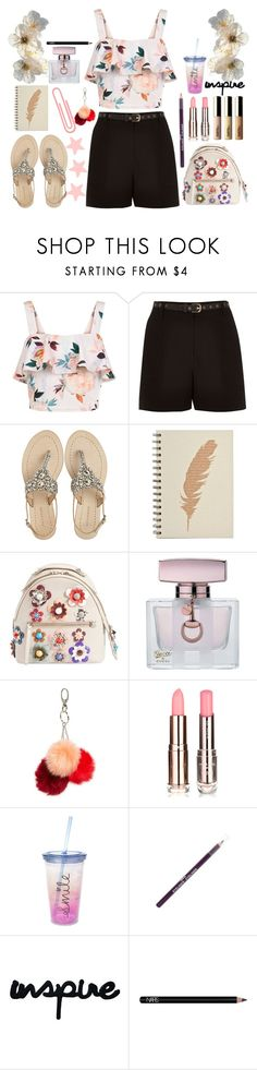 """""""Untitled #238"""" by poorvashikalra ❤ liked on Polyvore featuring New Look, River Island, Antik Batik, Fendi, Gucci, Topshop, claire's, ASAP and NARS Cosmetics"""