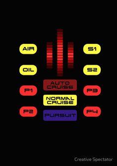 Knight Rider KITT Car Dashboard Graphic by Creative Spectator