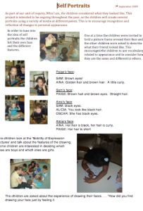 Reggio: Examining Self Portraits – A Journey Into Inquiry Based Early Learning Reggio Inspired Classrooms, Reggio Classroom, Inquiry Based Learning, Early Learning, Learning Objectives, Reggio Emilia, Learning Stories Examples, Emergent Curriculum, Visible Learning