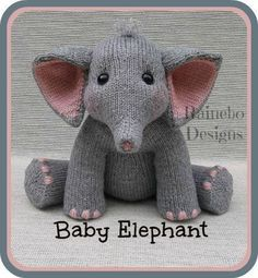 Knit Baby Elephant | Craftsy