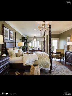 Love the colors for the master bedroom
