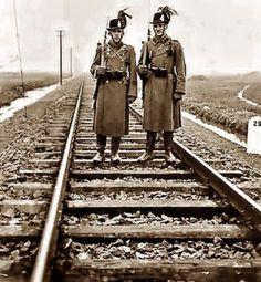 Hungary, Railroad Tracks, Police, History, Military Photos, Historia, Law Enforcement, History Books, History Activities
