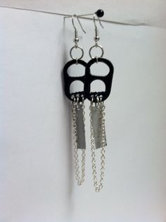 Recycled Pop Can Tab Earrings