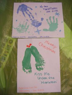 Hand and/or Foot Print Art each Christma. - Hand and/or Foot Print Art each Christma. Christmas Kiss, Babies First Christmas, Christmas Quotes, Christmas Projects, Mistletoe Footprint, Art Activities For Toddlers, Preschool Ideas, Footprint Crafts, Toddler Art Projects