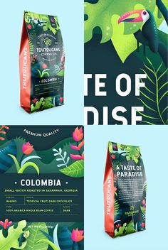 Logo design, branding, illustration, and package design for a fictional coffee brand. Food Branding, Coffee Branding, Food Packaging Design, Packaging Design Inspiration, Brand Packaging, Bottle Packaging, Branding Design, Product Packaging Design, Product Labels