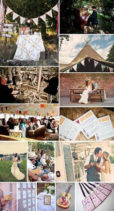 a Music Festival inspired wedding, inspiration board designed by www.thesimplifiers.com (The Simplifiers: Event Planning - Austin, TX)