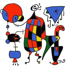 Art Room Videos: famous artist Miro animated painting for kids - great video to introduce the art of Miró. Kids will love it because of his use of bright colors and geometric shapes!