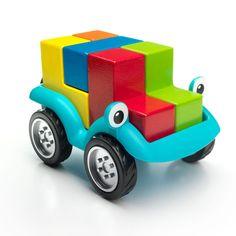 Smart+Games+SmartCar+5x5+4++-+Passen+de+5+kleurige,+houten+blokken+in+het+autootje?+Met+48+opdrachten+voor+kleuters+en+48+opdrachten+voor+lagere+schoolkinderen.+
