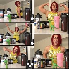 Beast mode: ON   Athlete @ashlynbrowne getting comfy in her own kitchen with all the supps and gains.  Massive inspo !  #mw4her #muscleworx #supplements #fitness #bodybuilding #gains #strength by muscleworxforher