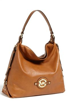 MICHAEL Michael Kors 'Stockard - Large' Shoulder Bag available at #Nordstrom I want THIS in the color Cinnabar!!!!!!!❤❤❤