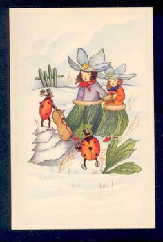 vintage postcard, via eBay