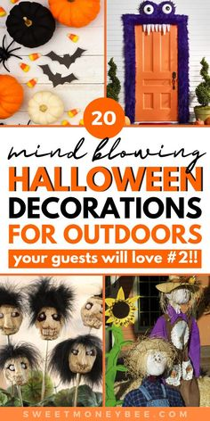 Cute Halloween Decorations, Fun Halloween Treats, Cheap Halloween, Halloween Banner, Diy Halloween Decorations, Holidays Halloween, Halloween Crafts, Outdoor Decorations, Halloween 2020
