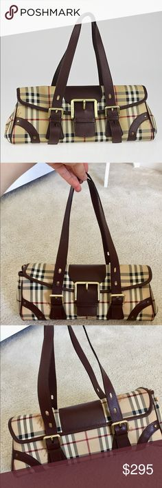 082e87bae7 EUC Burberry haymarket check classic tote 100%Authentic guaranteed Burberry  vintage haymarket check classic tote