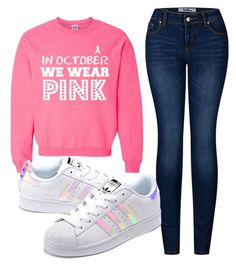 """""""OctPink"""" by jarias-melendez ❤ liked on Polyvore featuring 2LUV and adidas Originals"""