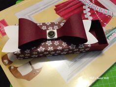 Stampin Up Verpackung / Box, Big Shot Geschenkschleife