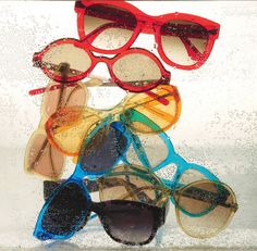 A rainbow of sunglasses