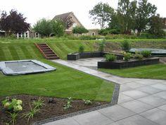 Kindvriendelijke tuin met trampoline - Van Breukelen groen