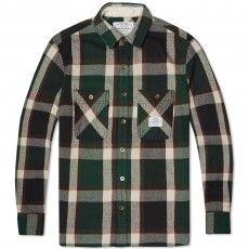 Neighborhood Lumbers Shirt (Green, Red & White)