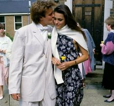 Simon kissing Yasmin's cheek, 1986