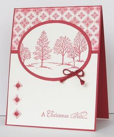 Red & Cream by Heather T - Cards and Paper Crafts at Splitcoaststampers