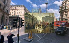 9th november - Pinturas de Londres del Siglo XVIII pegadas en la vista de Google Street View - http://2ba.by/12nbt