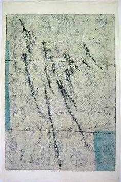 "Hideo Hagiwara, Fantasy in White (1), 1962, 25"" x 37"""
